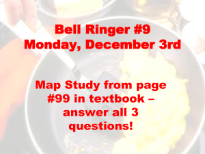 Bell Ringer #6 Monday, November 27th
