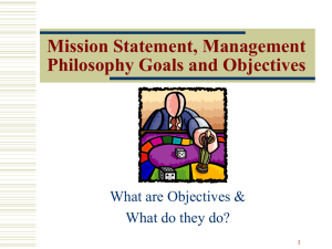 OBJECTIVES IN MANAGEMENT