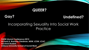 Incorporating Sexuality into Social Work Practice
