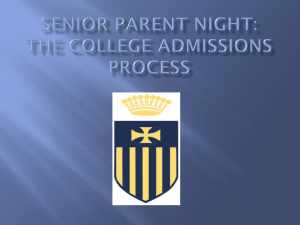 The College Admissions Process - Merion
