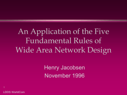 Applying the Five Fundamental Rules of Network Design