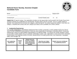 national honor society application cover sheet