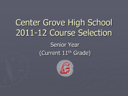 Center Grove High School 2006