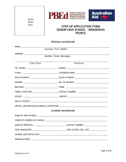 App Form - Bachelors - Senior high school IP students