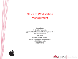 Managing UNM Computer Workstations