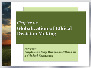 Globalization of Ethical Decision Making