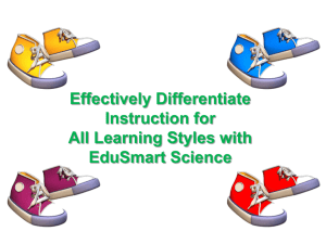 Effectively Differentiate Instruction for All Learning Styles with