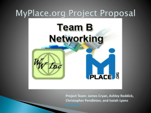 MyPlace.org Project Proposal