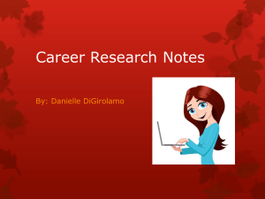 Career Research Notes
