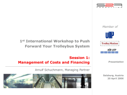 Management of Cost and Financing