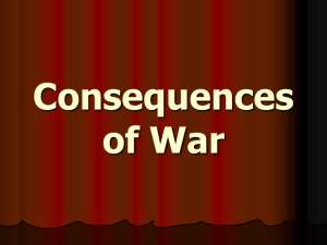 Consequences of War Committee on Public