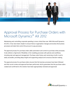 Approval process for purchase orders