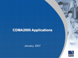 Technology: CDMA2000 1xEV