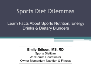 Sports Diet Dilemmas