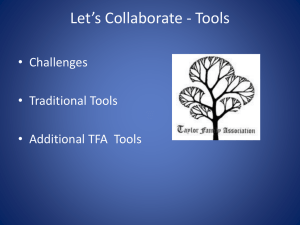 Collaboration Tools - Taylor Family Association