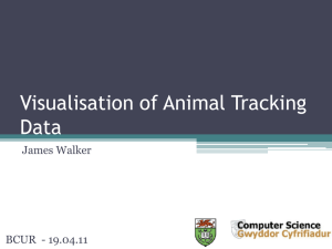 Visualisation of Animal Tracking Data