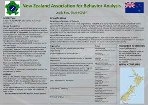 New Zealand Association for Behavior Analysis (NZABA)