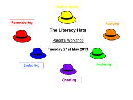Literacy Hats Parent Workshop