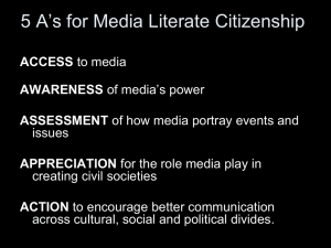 PowerPoint Presentation - Media Literacy in Higher Education