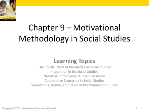 Chapter 9 * Motivational Methodology in Social Studies