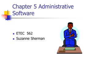 Chapter 5 Administrative Software