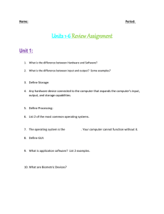Units 1-6 Review Assignment