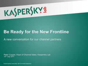 Kaspersky Be Ready for the New Frontline