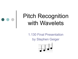 Pitch Recognition with Wavelets