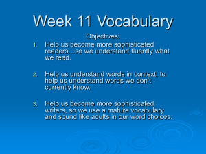 Week 10 Vocabulary