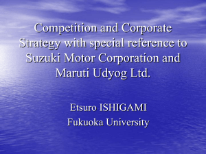 Competition and Corporate Strategy with special reference to Suzuki