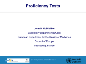 Proficiency Tests