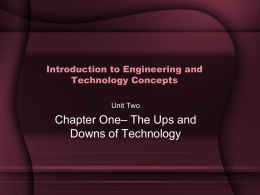 Chapter 1 - The Ups and Downs of Technology
