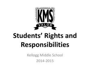 Students' Rights and Responsibilities