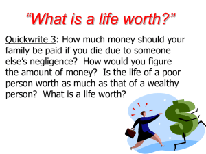 What is a life worth?