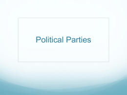 Modern American Political Parties