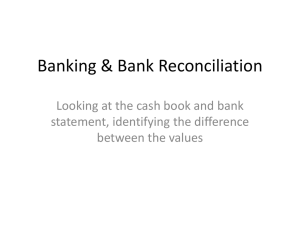pp Bank reconciliation