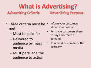 Influences on Advertising