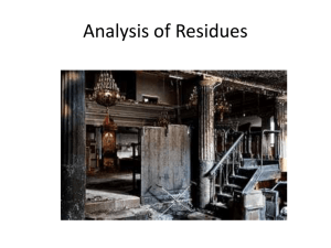 Analysis of Residues
