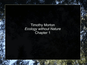 Ecology without Nature Presentation