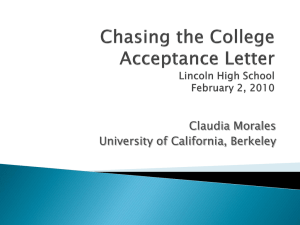 Chasing the college acceptance letter
