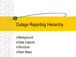 Outage Reporting Hierarchy - IEEE-SA