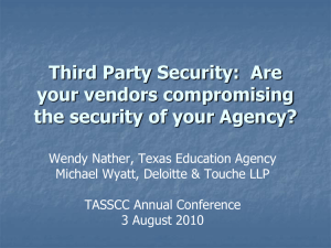 Third Party Security