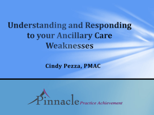Understanding and Responding to your Ancillary Care Weaknesses