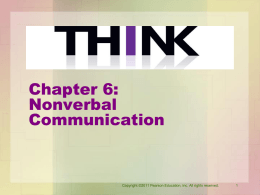 Chapter 6: Understanding Nonverbal Communication
