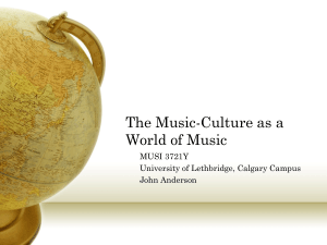 The Music-Culture as a World of Music