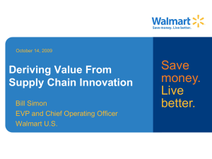 Deriving Value From Supply Chain Innovation