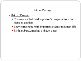 PowerPoint 16 - Religion_ Rituals_ Rites of Passage