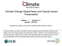 Climate Change Global News and Topical Issues Presentation #1