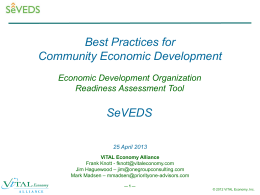 SeVEDS CED Best Practice Assessment Tool 04252013 annotated