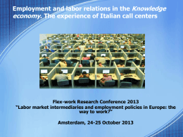 Employment and labor relations in the Knowledge economy. The